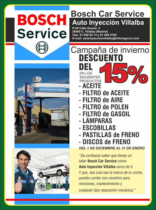 Bosh Car Center Oferta P29